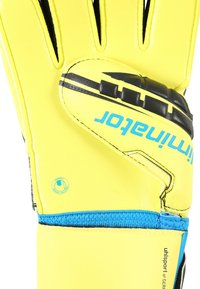 Uhlsport - ELIMINATOR SUPERSOFT - Goalkeeping gloves - lite fluo gelb/schwarz/hydro blau - 3