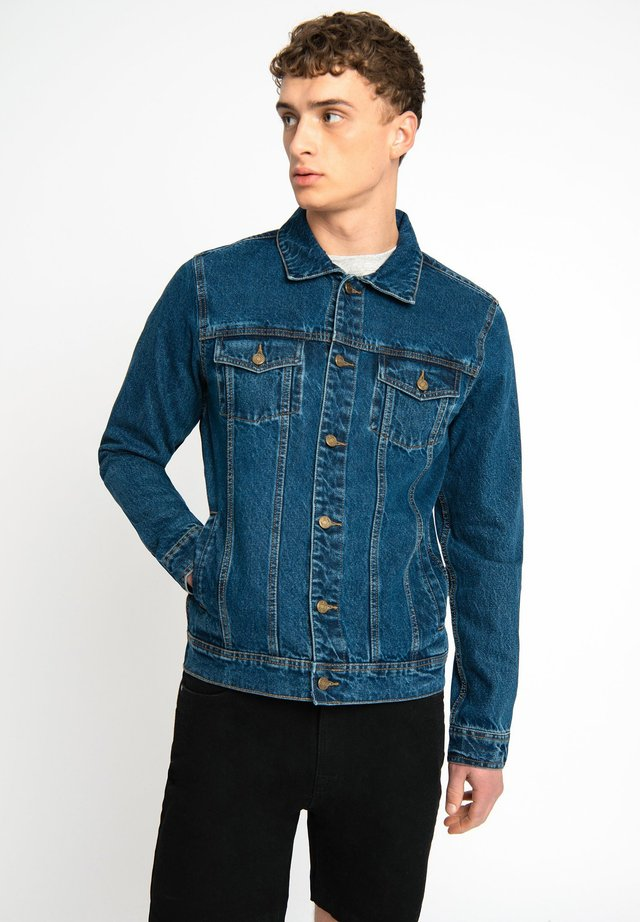 LDN DNM STONE WASHED BLUE DENIM TRUCKER JACKET - Spijkerjas - dark blue