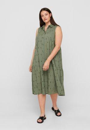 Shirt dress - agave green