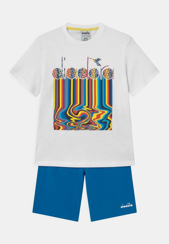 LOGO SET UNISEX - T-shirt imprimé - optical white
