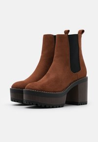 Even&Odd - High heeled ankle boots - cognac - 2