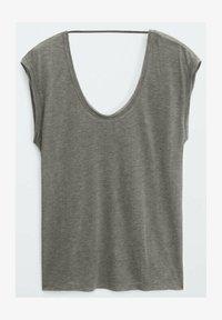 Massimo Dutti - T-shirt basique - grey - 0