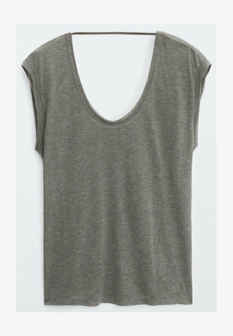 Massimo Dutti - T-shirt basique - grey