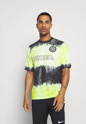FC - Print T-shirt - black/volt/white