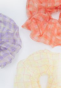 Pieces - PCLANNA SCRUNCHIE 3 PACK - Hair styling accessory - peachy keen/sand/purple - 1