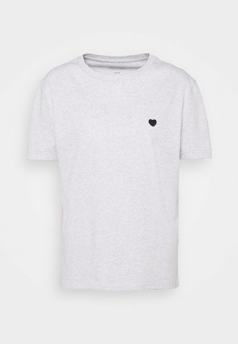 Opus - SERZ - Basic T-shirt - grey