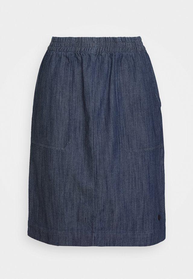 KURZ - Áčková sukně - marine blue