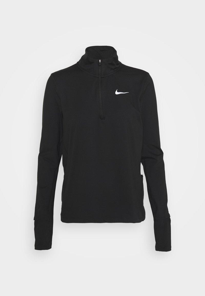 Nike Performance - ELEMENT - Sports shirt - black/reflective silver