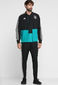 adidas Performance - TIRO AEROREADY CLIMACOOL FOOTBALL PANTS - Tracksuit bottoms - black/white - 1