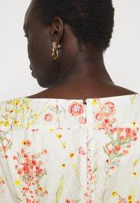 Lauren Ralph Lauren - VOILE DRESS - Day dress - col cream/coral - 4