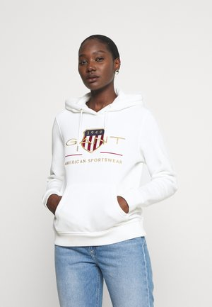 ARCHIVE SHIELD HOODIE - Jersey con capucha - eggshell