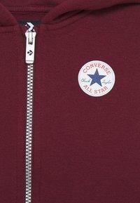 Converse - CHUCK PATCH FULL ZIP HOODIE  - Zip-up hoodie - dark burgundy - 2
