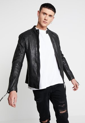NERO - Leather jacket - black