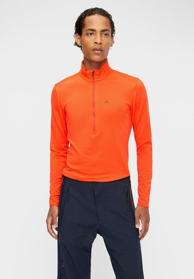 LUKE ZIP MID LAYER - Long sleeved top - juicy orange