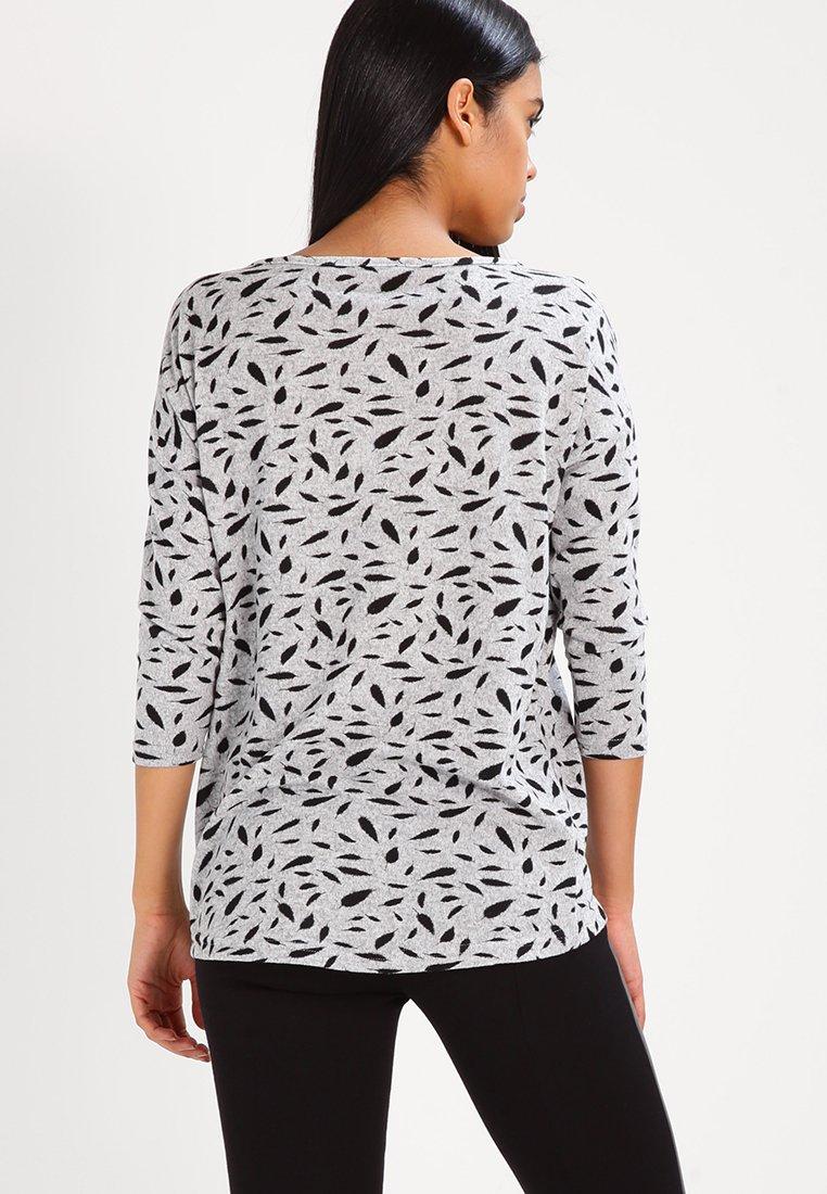 Mujer ONLELCOS - Jersey de punto - light grey melange/black