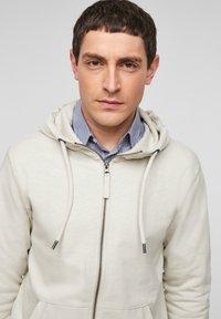 s.Oliver - FELPA - Zip-up sweatshirt - cream - 3