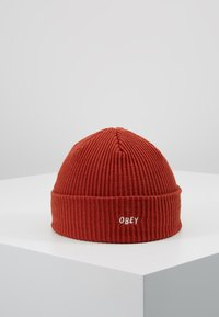 Obey Clothing - HANGMAN BEANIE - Čepice - brick red - 0
