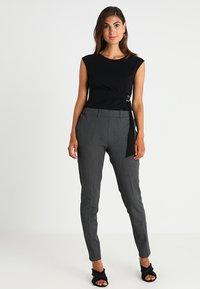 Kaffe - RONIE PANTS - Trousers - dark grey melange - 2