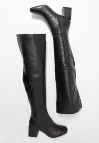 Dorothy Perkins - LOLA SKYE LAELA HIGH SHAFT BOOT - Kozačky nad kolena - black - 3