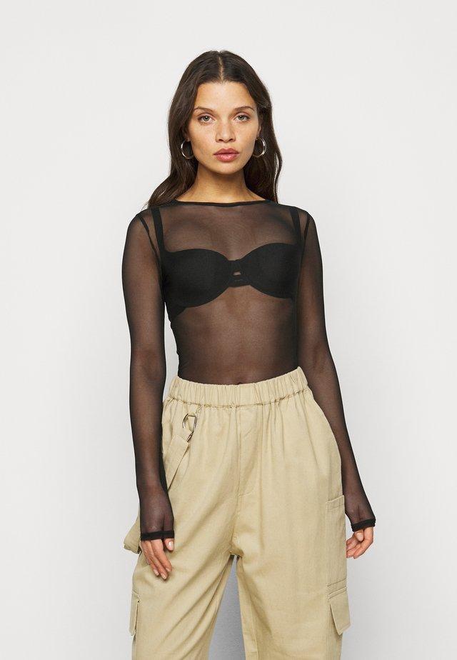 CREW NECK BODYSUIT - T-shirt à manches longues - black