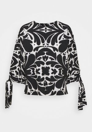 LOVARINE - Blouse - black/white