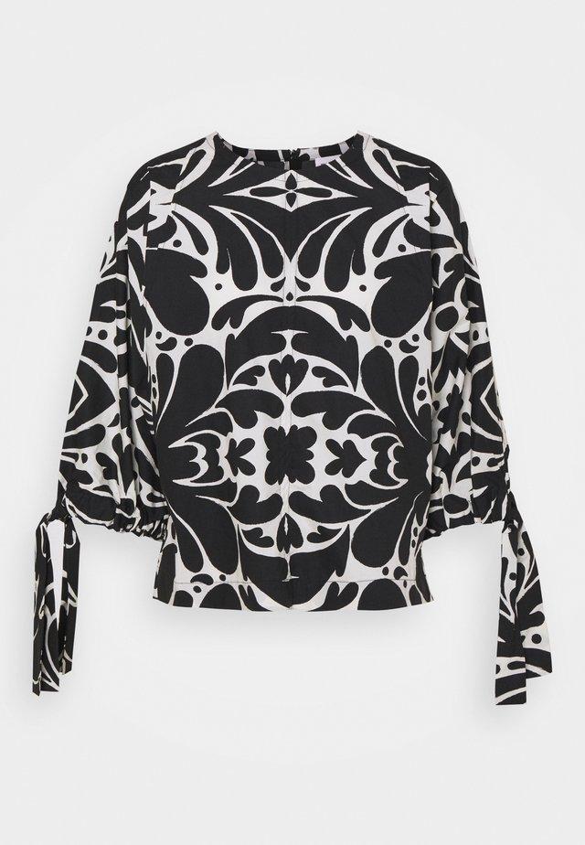 LOVARINE - Blouse - black/white