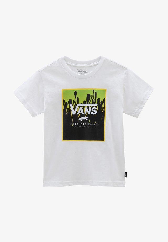 BY PRINT BOX KIDS - T-shirt con stampa - white/slime