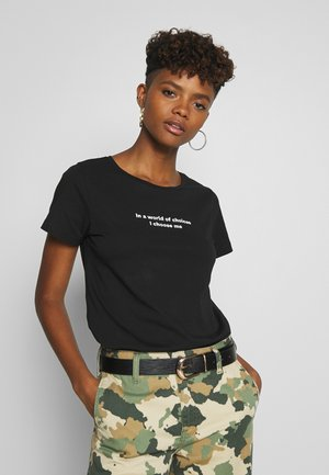 NMNATE WOMENSDAY - T-shirt imprimé - black