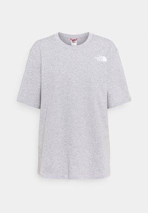 TEE - Print T-shirt - light grey heather/red