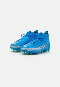 Nike Performance - JR PHANTOM GT ACADEMY DYNAMIC FIT MG UNISEX - Kopačky lisovky - photo blue/metallic silver/rage green - 1