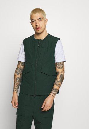 HELION VEST - Waistcoat - dark green