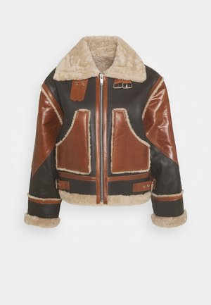 CUIR - Leather jacket - brown
