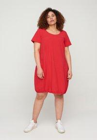 Zizzi - Day dress - red - 1