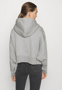 Nike Sportswear - TREND - Zip-up hoodie - dark grey heather/white - 2
