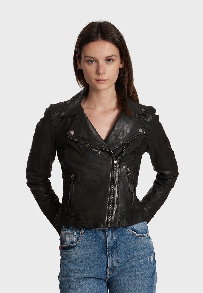 Oakwood - SAMANTHA  - Leather jacket - black