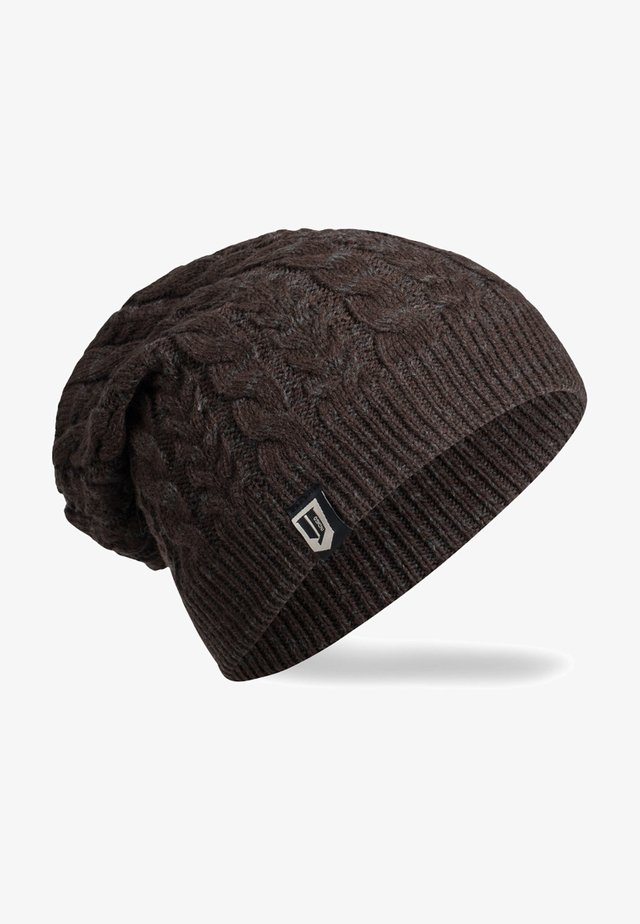 LONG SLOUCH BEANIE FORLI HODDIE - Bonnet - dk brown