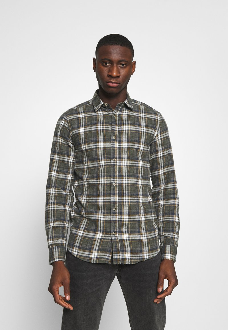 Only & Sons - ONSBOBBY WASHED CHECK - Skjorta - deep depths