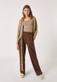 PULL&BEAR - Cardigan - mottled beige - 1