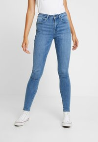 ONLY - ONLPOWER MID PUSH UP - Jeansy Skinny Fit - light blue denim - 0