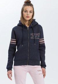 Cross Jeans - Zip-up hoodie - navy-meliert - 0