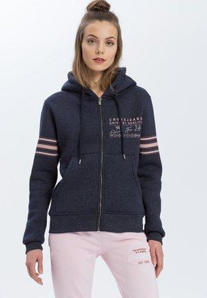 Zip-up hoodie - navy-meliert