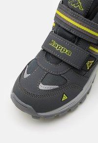 Kappa - HOVET TEX UNISEX - Hiking shoes - grey/lime - 5
