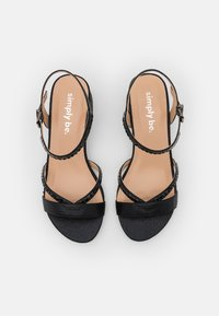 Simply Be - WIDE FIT CORSICA - Sandals - black - 5