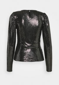 ONLY - ONLSALL PUFF SLEEVE SEQUIN TOP - Top s dlouhým rukávem - black - 2