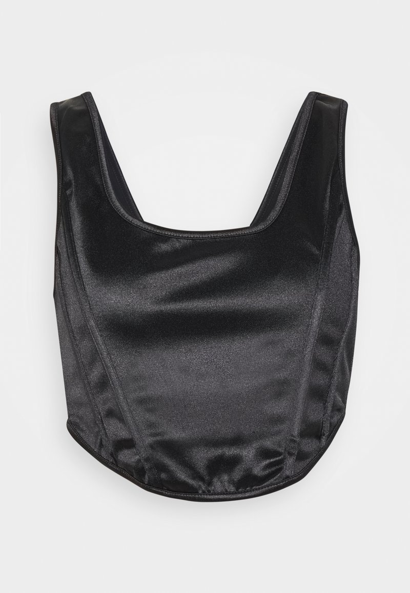 Topshop Petite - DISCO CORSET - Blusa - black