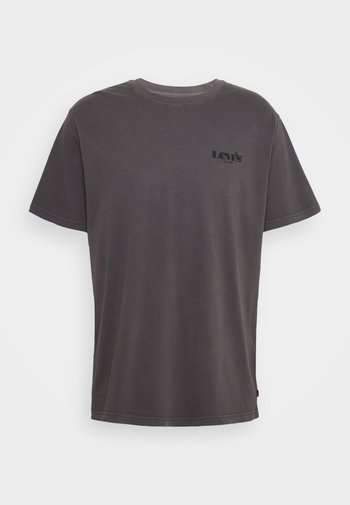 RELAXED FIT TEE UNISEX - Print T-shirt - anthracite/black
