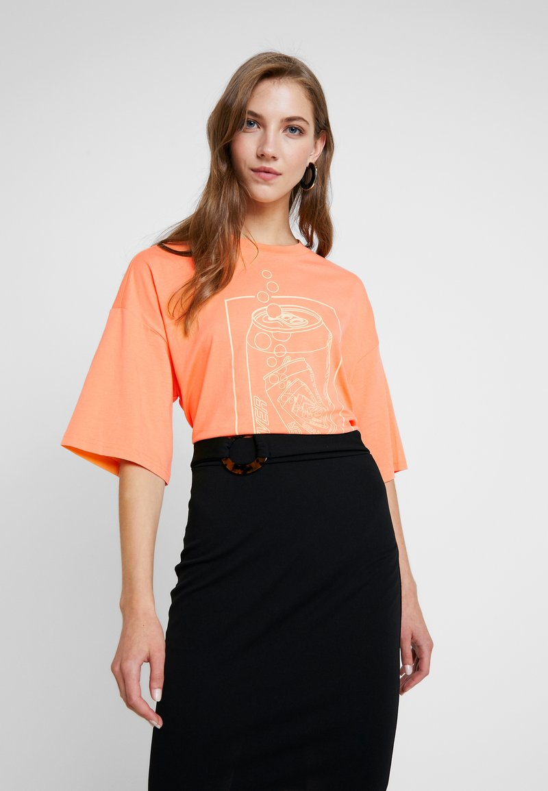 Monki - CISSI TEE  - T-shirts - orange
