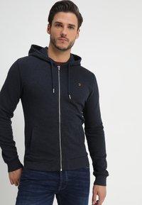 Farah - KYLE HOODIE - Zip-up hoodie - true navy marl - 0