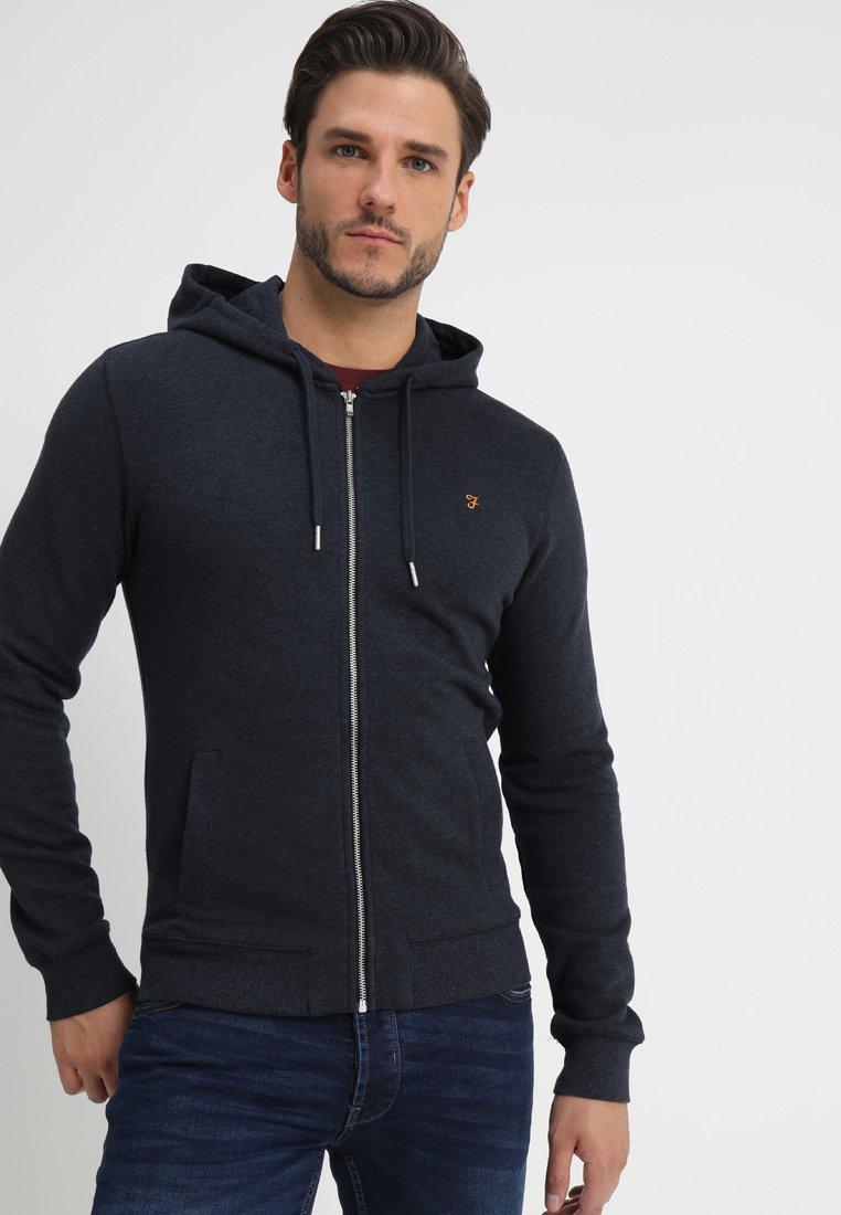 Farah - KYLE HOODIE - Zip-up hoodie - true navy marl