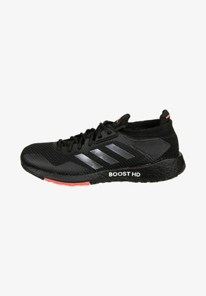 PULSEBOOST - Zapatillas de running estables - core black / night metallic / signal pink